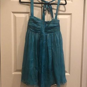 Alice and Olivia Teal Halter Dress